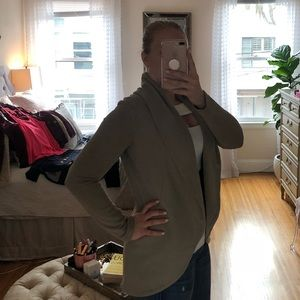 James Perse Open Cardigan Slate Gray/ Pumice
